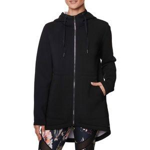 Betsey Johnson Black Bonded Anorak Jacket